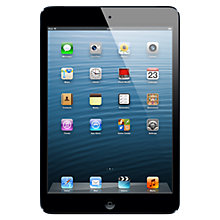 "Buy Apple iPad mini, Apple A5, iOS 6, 7.9"", Wi-Fi & Cellular, 16GB, Black Online at johnlewis.com"