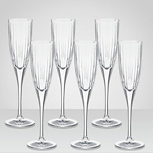 Buy Royal Doulton Linear Champagne Flutes, Set of 6 Online at johnlewis.com