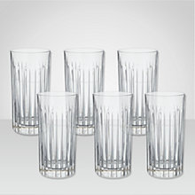 Buy Royal Doulton Linear Highball Glasses, Set of 6 Online at johnlewis.com