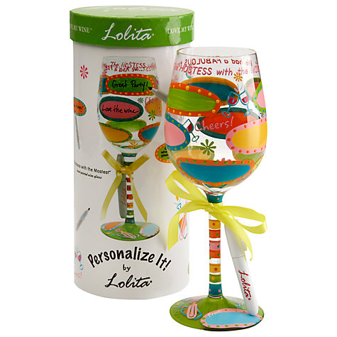 "Buy Lolita Personalize ""Hostess"" Wine Glass Online at johnlewis.com"