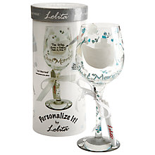 "Buy Lolita Personalize ""Married"" Wine Glass Online at johnlewis.com"
