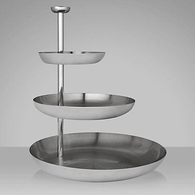 John Lewis Stainlesss Steel 3 Tier Cake Stand
