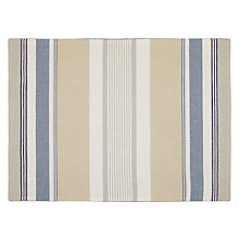 Buy John Lewis Coastal Stripe Placemat, Blue/White, Set of 2 Online at johnlewis.com