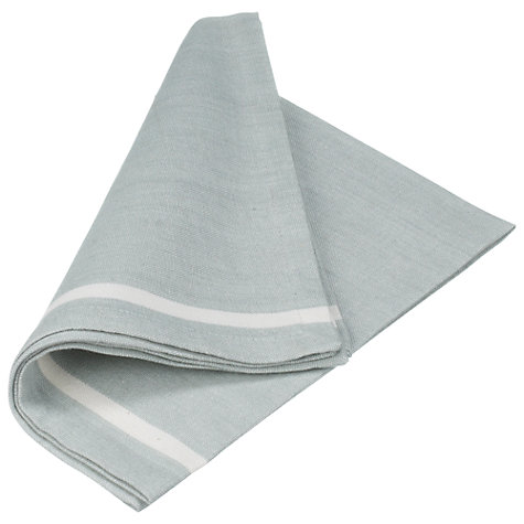 Buy John Lewis Contrast Stripe Napkins, Green, Set of 4 Online at johnlewis.com