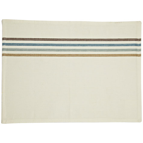 Buy John Lewis Contrast Stripe Placemat, Set of 2, Multi Online at johnlewis.com