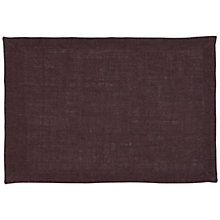 Buy John Lewis Hoxton Placemat, Purple Online at johnlewis.com