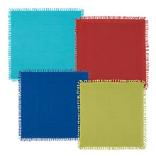 Buy John Lewis Cabo Frayed Edge Napkins, Set of 4, Multi Online at johnlewis.com