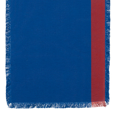 Buy John Lewis Cabo Frayed Edge Runner, Blue / Red Online at johnlewis.com