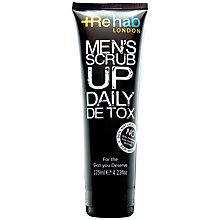 Buy Rehab London Men's Scrub Up Daily Detox, 125ml Online at johnlewis.com