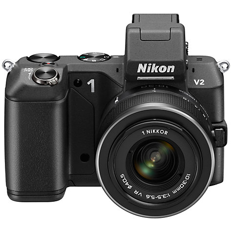 "Buy Nikon 1 V2 Compact System Camera with 10-30mm Lens, HD 1080p, 14.2MP, 3"" LCD Screen, Black Online at johnlewis.com"