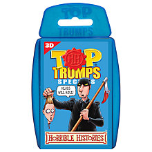 Buy Top Trumps Cards, Horrible Histories (3D) Online at johnlewis.com