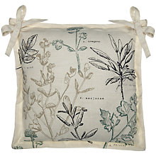 Buy John Lewis Oxford Outdoor Seat Pad, Botanist Herbs Online at johnlewis.com