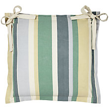 Buy John Lewis Oxford Outdoor Seat Pad, Botanist Stripe Online at johnlewis.com