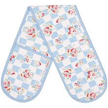 Buy Cath Kidston Daisy Rose Check Double Oven Glove Online at johnlewis.com