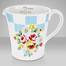 Buy Cath Kidston Daisy Rose Check Measuring Jug Online at johnlewis.com