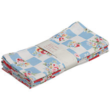 Buy Cath Kidston Daisy Rose Check Cotton Napkins Online at johnlewis.com