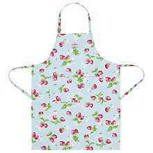 Buy Cath Kidston Strawberry Blue Wipe Clean Apron Online at johnlewis.com