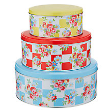 Buy Cath Kidston Daisy Rose Check Cake Tins, Set of 3 Online at johnlewis.com