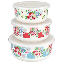 Buy Cath Kidston Daisy Rose Check Melamine Containers, Set of 3 Online at johnlewis.com