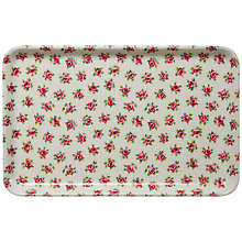 Buy Cath Kidston Cotton Rose Tray, Small Online at johnlewis.com