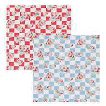 Buy Cath Kidston Daisy Rose Check Tea Towels, Set of 2 Online at johnlewis.com