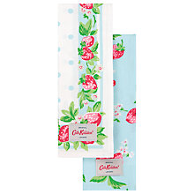 Buy Cath Kidston Strawberry Blue Tea Towels, Set of 2 Online at johnlewis.com