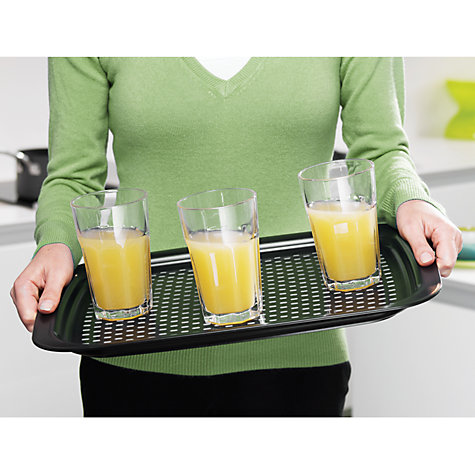 Buy Joseph Joseph Grip Tray, Black Online at johnlewis.com
