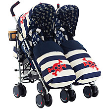 Buy Cosatto Supa Dupa Twin Pushchair, Ahoy There Online at johnlewis.com