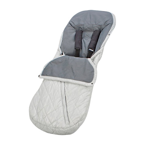 Buy Uppababy Footmuff, Mica Silver Online at johnlewis.com