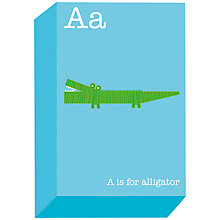 Buy Ella & George- Alphabet on Canvas Wrap Print, A, 30 x 20cm Online at johnlewis.com