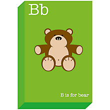 Buy Ella & George- Alphabet on Canvas Wrap Print, B 30 x 20cm Online at johnlewis.com