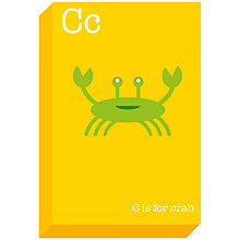 Buy Ella & George- Alphabet on Canvas Wrap Print, C 30 x 20cm Online at johnlewis.com
