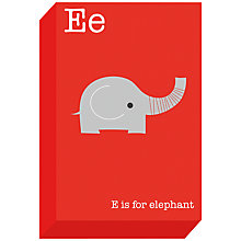 Buy Ella & George- Alphabet on Canvas Wrap Print, E, 30 x 20cm Online at johnlewis.com