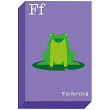 Buy Ella & George- Alphabet on Canvas Wrap Print, F, 30 x 20cm Online at johnlewis.com