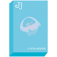 Buy Ella & George- Alphabet on Canvas Wrap Print, J, 30 x 20cm Online at johnlewis.com