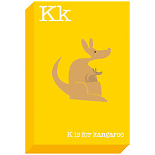 Buy Ella & George- Alphabet on Canvas Wrap Print, K, 30 x 20cm Online at johnlewis.com