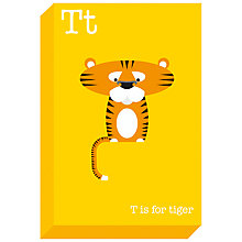Buy Ella & George- Alphabet on Canvas Wrap Print, T, 30 x 20cm Online at johnlewis.com