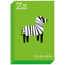 Buy Ella & George- Alphabet on Canvas Wrap Print, Z, 30 x 20cm Online at johnlewis.com