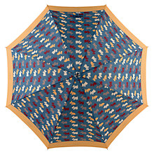 Buy Radley Dog Print Walking Umbrella, Navy Online at johnlewis.com