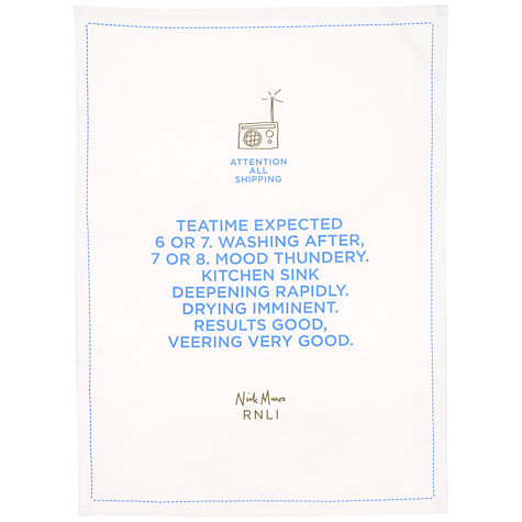 Buy Nick Munro RNLI Attention All Shipping Teatime Teatowel Online at johnlewis.com
