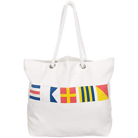 Buy Nick Munro RNLI The Signs of the Sea Flag Cargo Bag Online at johnlewis.com