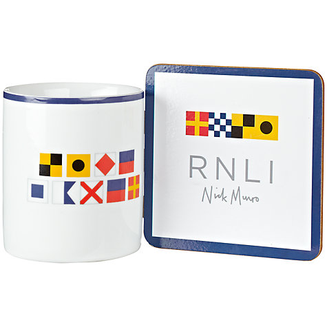 Buy Nick Munro RNLI The Signs of the Sea Flag Mug Coaster Set Online at johnlewis.com