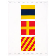 Buy Nick Munro RNLI The Signs of the Sea Flag Teatowel, Dry Online at johnlewis.com