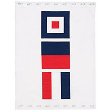 Buy Nick Munro RNLI The Signs of the Sea Flag Teatowel, Wet Online at johnlewis.com