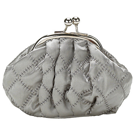 Buy Lisbeth Dahl Silk Makeup Bag, Grey, Small Online at johnlewis.com