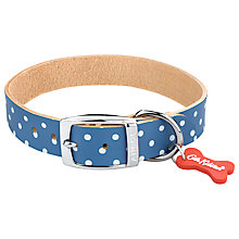 Buy Cath Kidston Blue Spot Pet Collar, Large Online at johnlewis.com