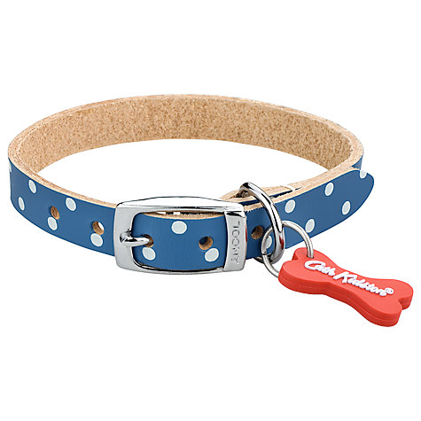 Buy Cath Kidston Blue Spot Pet Collar, Medium Online at johnlewis.com