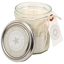 Buy Green and Co. Country Lavender Scented Candle Online at johnlewis.com