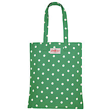 Buy Cath Kidston Emerald Green Spot Canvas Book Bag Online at johnlewis.com