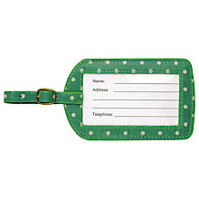 Buy Cath Kidston Emerald Green Spot Luggage Tag Online at johnlewis.com